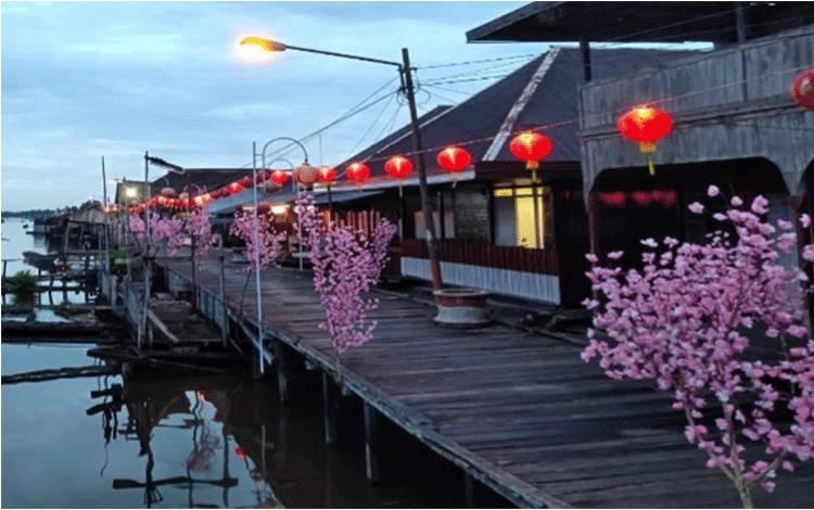 Suasana Arut Riverside atau pinggiran Sungai Arut yang masuk nominasi ajang Anugerah Pesona Indonesia (API) Award 2020.