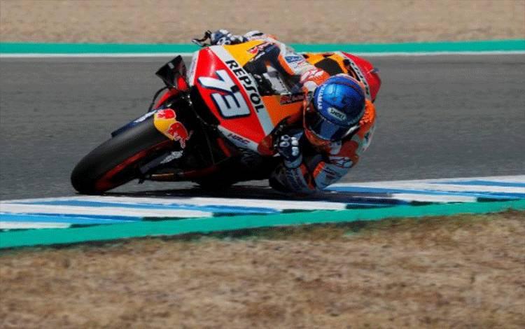 Pembalap Repsol Honda Alex Marquez. REUTERS/Jon Nazca