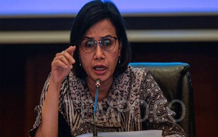 Menteri Keuangan Sri Mulyani memberikan keterangan pers APBN KiTa di kantor Kemenkeu, Jakarta, Senin, 26 Agustus 2019. Kementerian Keuangan mencatat defisit Anggaran Pendapatan dan Belanja Negara (APBN) per 31 Juli 2019 sebesar Rp183,7 triliun atau 1,14 persen terhadap Produk Domestik Bruto (PDB). TEMPO/Tony Hartawan