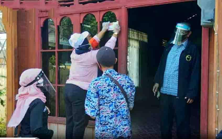 Proses coklit data pemilih di Barito Utara.