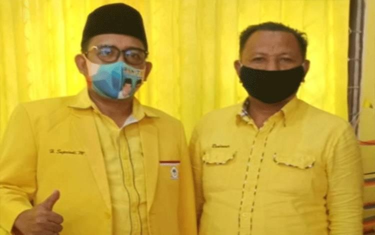 Ketua DPD Golkar Kotim, H Supriadi dan Ketua Panitia Musda H Rudianur.
