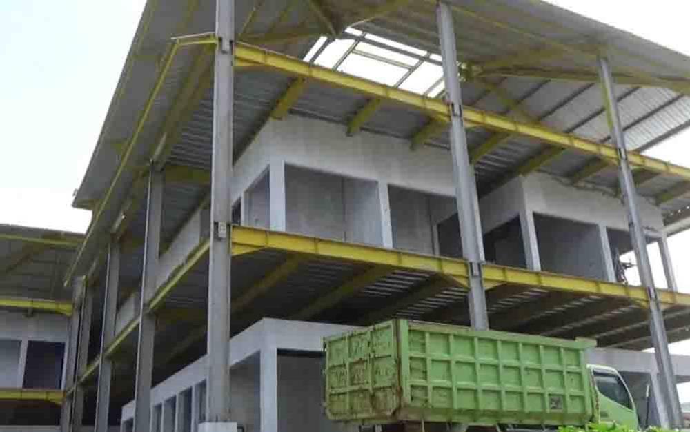 Pembangunan Pasar Mangkikit yang tak kunjung selesai.