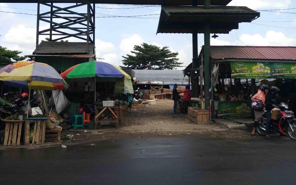 Lokasi relokasi pedagang Pasar Mangkikit di Jalan MT Haryono Sampit.