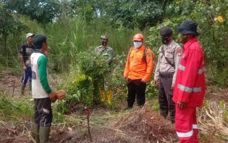 Tim gabungan di Kecamatan Kahayan Hilir saat patroli gabungan pencegahan karhutla, Rabu, 26 Agustus 2020.