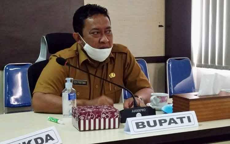 INTRUKSI: Bupati Pulang Pisau, H Edy Pratowo mengingatkan agar dalam penyusunan program jangan berlandaskan ego sektoral, Kamis, 27 Agustus 2020.