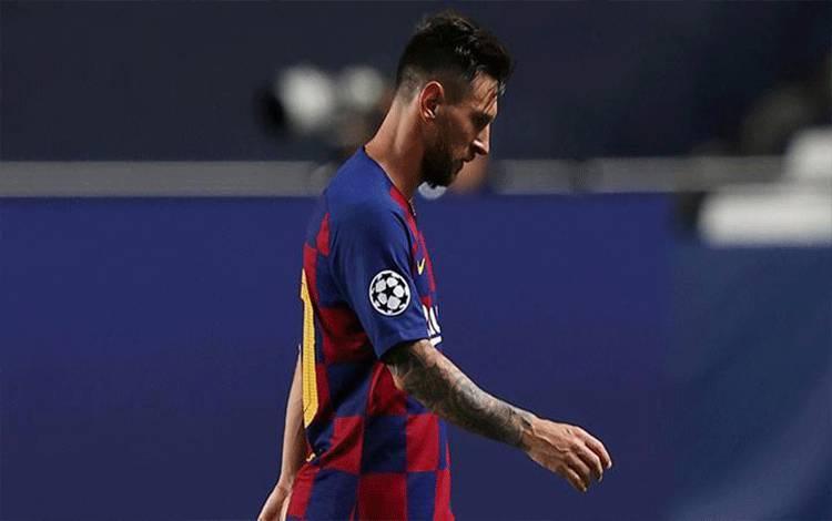 Pemain Barcelona Lionel Messi. (foto : Reuters)
