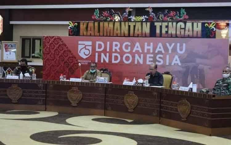 Suasana acara kick off sensus penduduk tahun 2020 di Aula Jayang Tingang, Kantor Gubernur Kalteng.