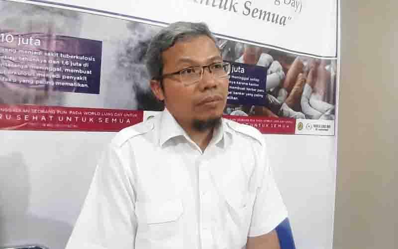 Dokter paru Rumah Sakit (RS) Persahabatan dr. Andika Chandra Putra, Sp.P, Ph.D berbicara dalam sebuah acara PDPI di Jakarta, Kamis (19/9/2019). (foto : ANTARA/Katriana)