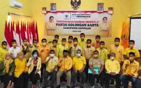 Musda V DPD Partai Golkar Katingan, Kamis, 3 September 2020.