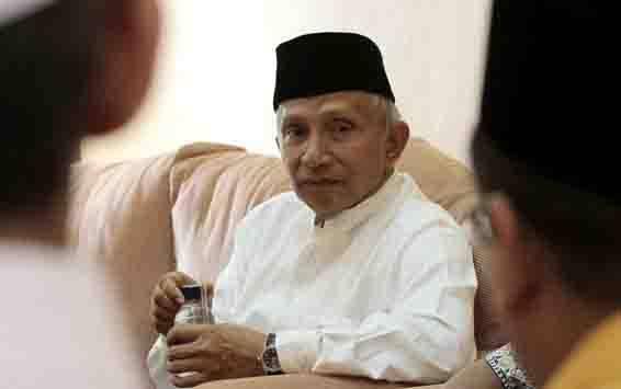 Mantan Ketua MPR Amien Rais. (foto : ANTARA FOTO/Joko Sulistyo)