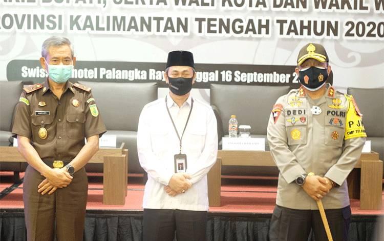Kapolda Kalteng Irjen Dedi Prasetyo menghadiri kegiatan rapat koordinasi Sentra Gakkumdu.