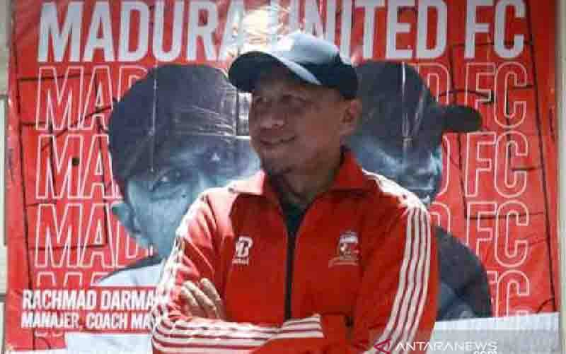 Pelatih Madura United FC Rahmad Darmawan. (foto : ANTARA/Abd Aziz/pri)
