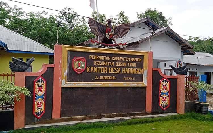Kantor Desa Haringen, Kecamatan Dusun Timur, Kabupaten Barito Timur.