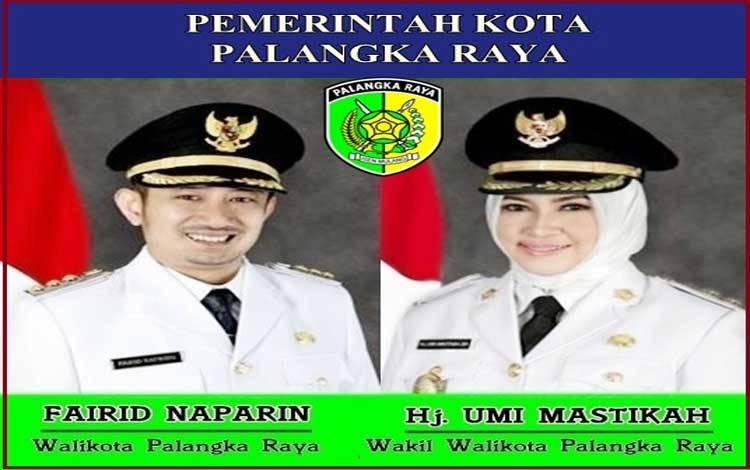 Pasangan Wali Kota Palangka Raya, Fairid Naparin dan Wakil Wali Kota Palangka Raya Hj Umi Mastikah