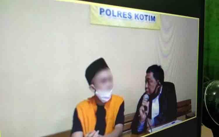 M Haris Maulana alias Haris terdakwa kasus sabu