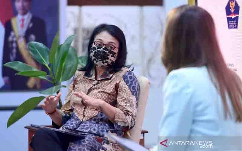 Menteri PPPA susun protokol kesehatan khusus cegah munculnya klaster keluarga (foto : ANTARA/HO-Biro Pers Istana)