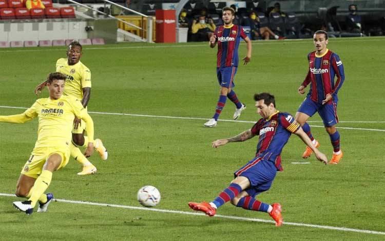 Lionel Messi kembali mencetak gol untuk Barcelona