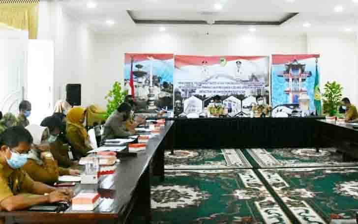 Rapat evaluasi penyerapan anggaran yang digelar Pemkab Barito Utara, Senin, 28 September 2020.