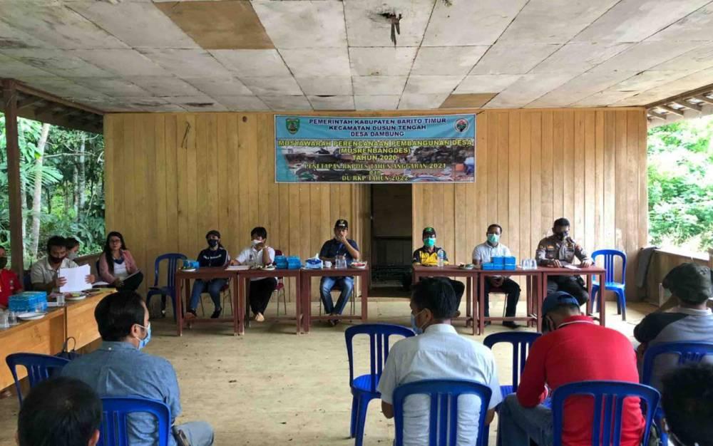 Kunjungan Bupati Barito Timur ke Desa Dambung, Kecamatan Dusun Tengah.