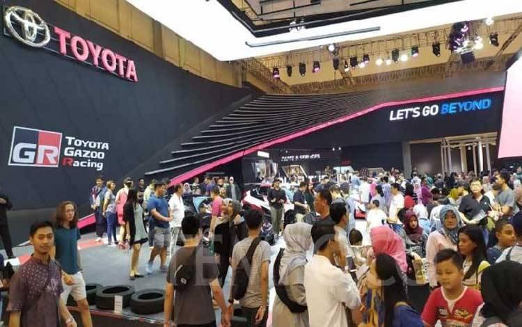Booth Toyota di pameran otomotif GIIAS 2019, di ICE, BSD City, Sabtu, 20 Juli 2919. TEMPO/Wawan Priyanto