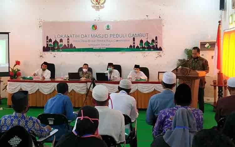 Lokalatih Dai Masjid Peduli Gambut yang berlangsung di aula Mess Pemkab Seruyan, Selasa, 6 Oktober 2020