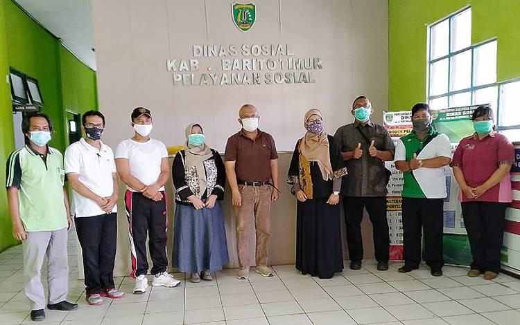 Kunjungan BBPPKS Regional IV Kalimantan ke Dinas Sosial Kabupaten Barito Timur, Jumat, 16 Oktober 2020.