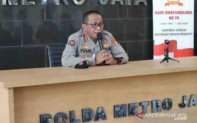 Kepala Bidang Humas Polda Metro Jaya Kombes Pol Yusri Yunus. (foto : ANTARA/Fianda Sjofjan Rassat)