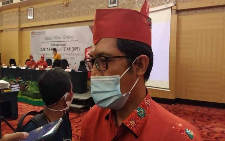 Komisioner KPU Provinsi Kalimantan Tengah, Wawan Wiraatmaja