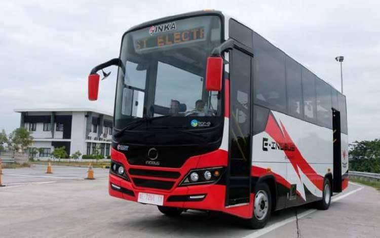Bus listrik Inka E-Inobus. Inka siap penetasi ke pasar dalam negeri maupun ekspor. - INKA