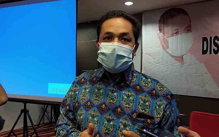 Ketua Persatuan Wartawan Indonesia atau PWI Kalteng, Haris Sadikin.