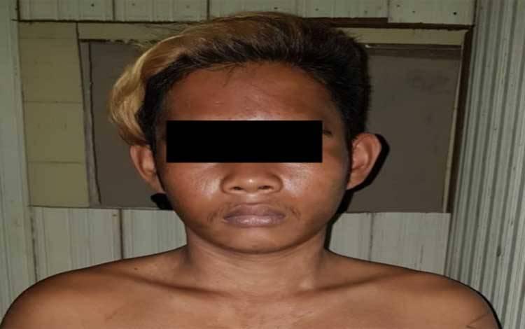 HR, pelaku penganiayaan terhadap warga di Katingan Tengah akhirnya diamankan polisi setelah buron 7 bulan