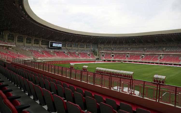 Stadion Utama Papua Bangkit di Jayapura, Papua, yang akan menjadi salah satu arena PON 2020. (kemenpora.go.id)