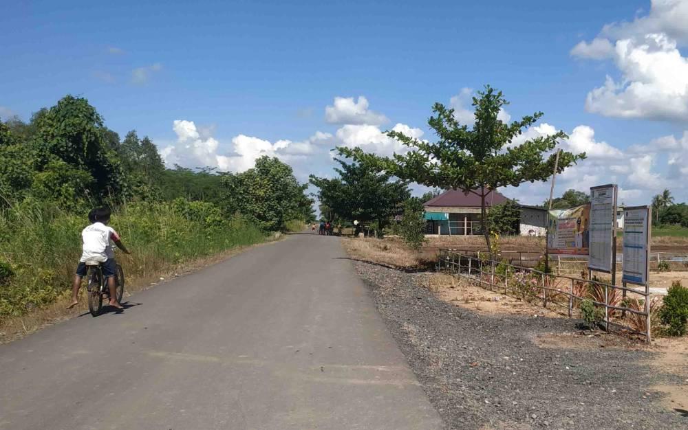 Potret salah satu ruas jalan antar desa di Kabupaten Pulang Pisau yang sudah memadai.