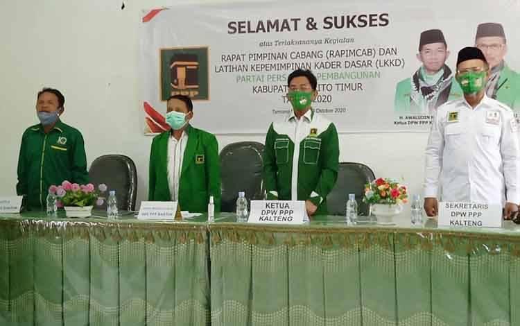 Pembukaan latihan kepemimpinan kader dasar DPC PPP Barito Timur