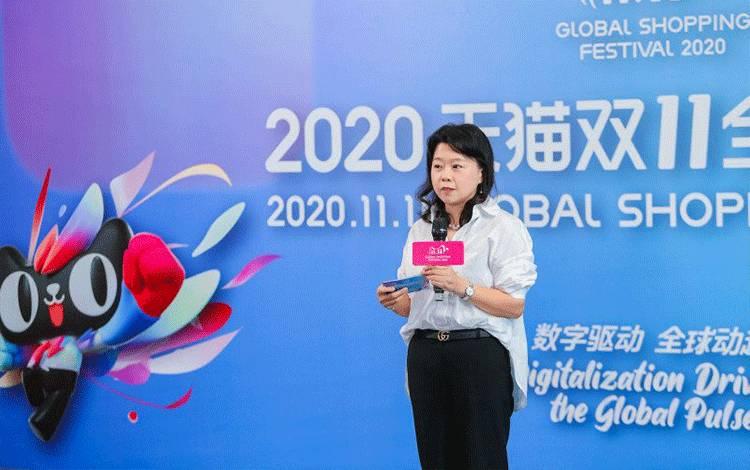 Co-President and Regional Head of Commercial Lazada Group Jessica Liu di konferensi pers virtual Festival Belanja Global 11.11 2020 Alibaba Group, Kamis (29/10/2020) (ANTARA/HO)