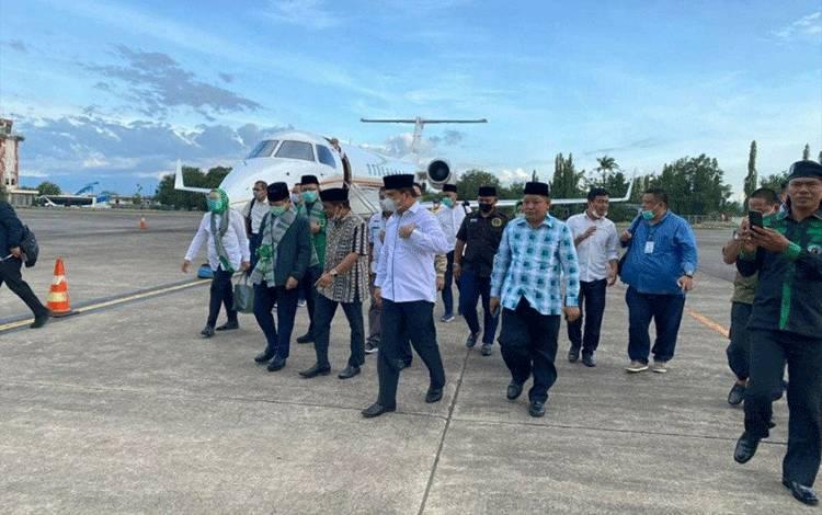 Pelaksana Tugas (Plt) Ketua Umum PPP Suharso Monoarfa saat kunjungan ke daerah. (foto : ANTARA/HO)