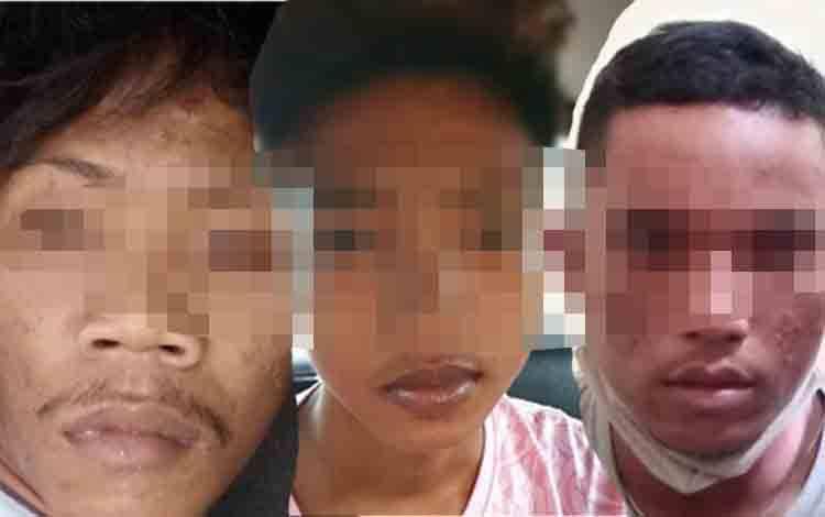 3 Pelaku Jambret saat diamankan Polisi