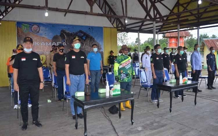 Plt Gubernur Kalteng Habib Ismail Bin Yahya saat membuka SORAC di Kabupaten Sukamara