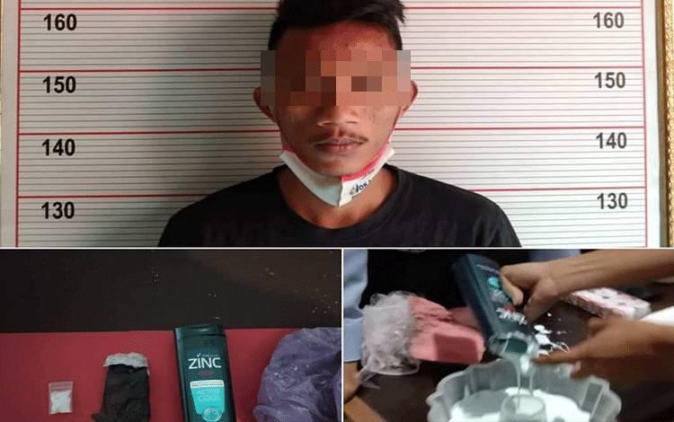 Napi LP Kelas IIB Pangkalan Bun ditangkap petugas lantaran menyimpan narkoba dalam botol shampo.