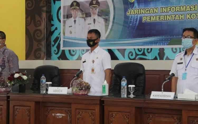 Bimbingan teknis Informasi Geospasial di Aula Peteng Karuhei II Palangka Raya, Rabu, 18 November 2020.