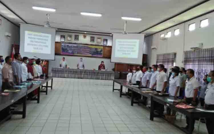 Pembukaan Rapor P3MD di aula Bappedalitbang Kabupaten Gunung Mas.