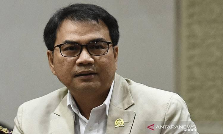 Wakil Ketua DPR-RI Aziz Syamsuddin. ANTARA FOTO/Puspa Perwitasari/aa.