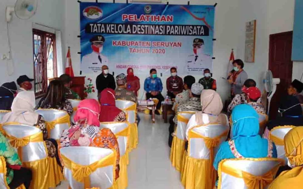 Pelatihan tata kelola destinasi wisata di Kabupaten Seruyan.