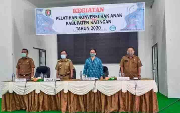 Pelatihan Konvensi Hak Anak di Kabupaten Katingan, Senin, 23 November 2020.
