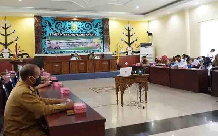 Sosialisasi pengarusutamaan Gender di lembaga pemerintahan Kota Palangka Raya, Selasa 24 November 2020