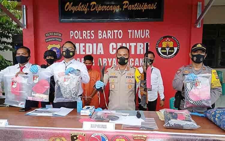 Press release kasus pemerkosaan yang dilakukan oleh residivis di mapolres Barito Timur