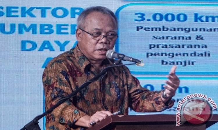 Menteri PUPR, Basuki Hadimulyono (ANTARA FOTO/Hendra Nurdiyansya)
