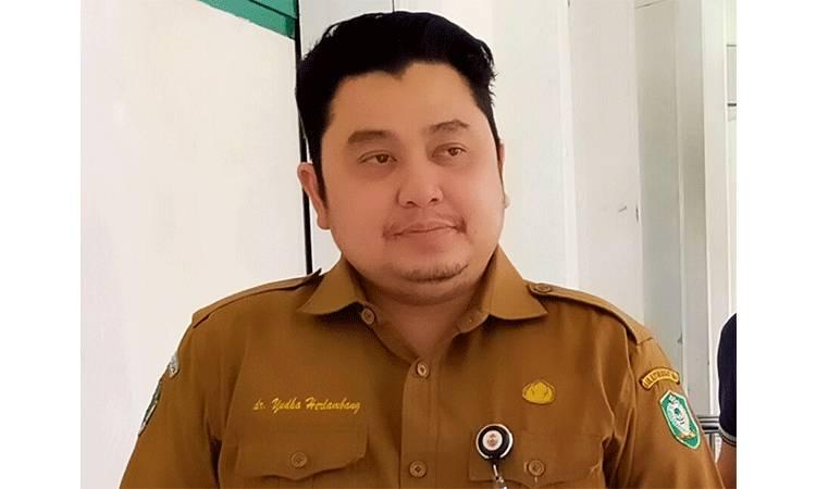 Foto almarhum dr Yudha Herlambang semasa masih bertugas sebagai Plt Direktur RSUD dr Murjani Sampit.