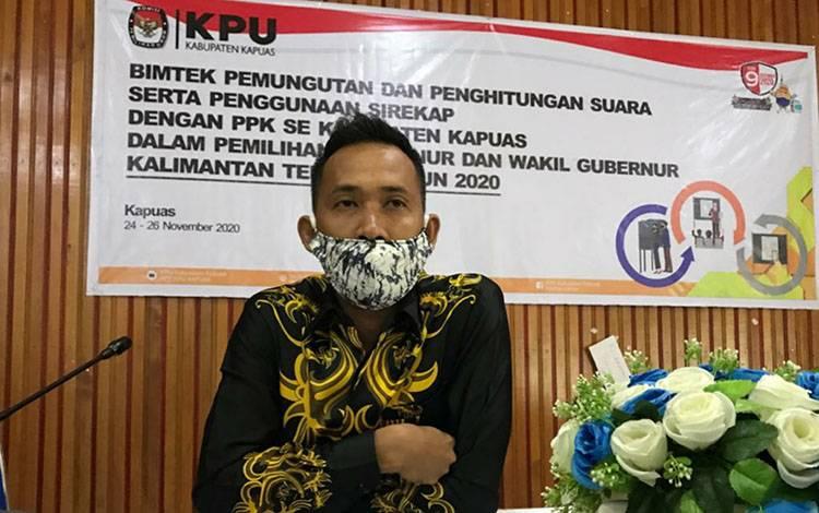 Anggota KPU Kapuas Divisi Teknis Penyelenggara, Agus Helmi