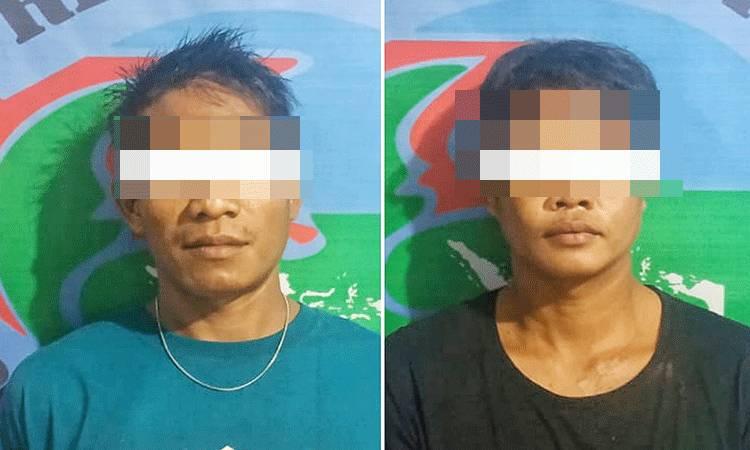 Dua terduga pengedar sabu KN (31) dan B (30) diamankan polisi.